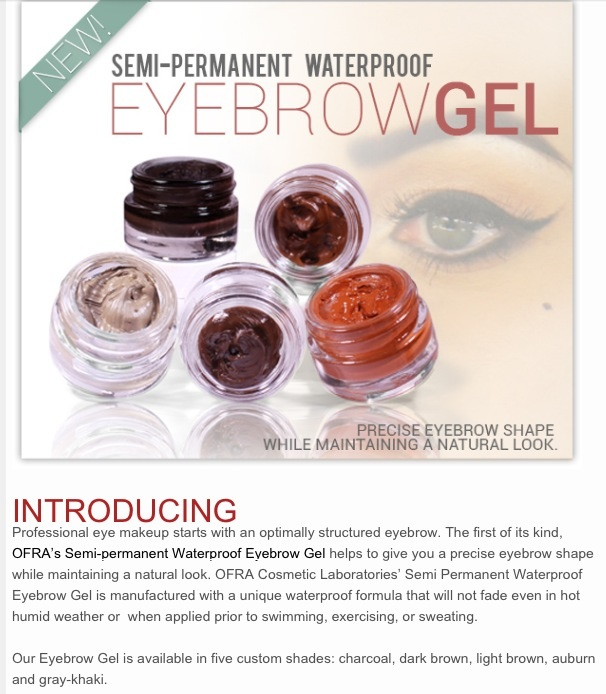 New product Semi-permanent waterproof eyebrow gel