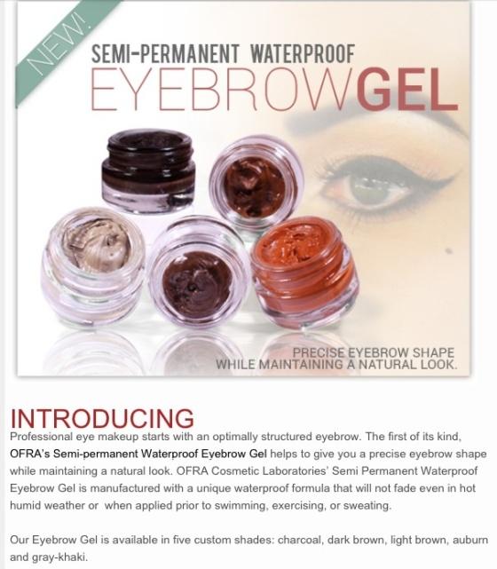 New product Semi-permanent waterproof eyebrow gel